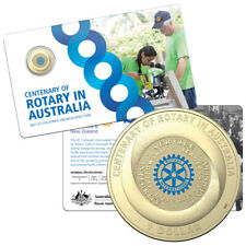 Australia 2021 Rotary Centenary Uncirculated Carded Coin Low Mintage