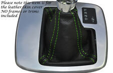 GREEN STITCH AUTO AUTOMATIC LEATHER GEAR GAITER FITS FORD MONDEO MK4 IV 07-14