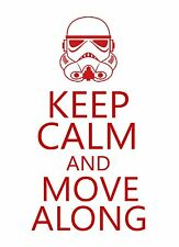 Keep Calm and Move Along Star Wars STICKER DECAL VINYL BUMPER CAR Truck wall