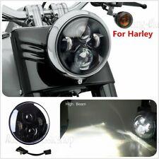 "7"" Led Front Black Projector Daymaker Led Light Bulb Headlight For Harley 45W"