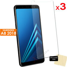 3 Pack CLEAR LCD Screen Protector Covers for Samsung Galaxy A8 2018 (SM-A530)