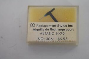 Replacement Diamond Turntable Stylus for ASTATIC N-79 NOS