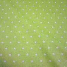 Stoff Baumwollstoff beschichtet Sterne hellgrün weiß abwaschbar Tischdecke anis