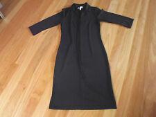 LADIES CUTE BLACK 3/4 SLEEVE POLYESTER DRESS & BELT BY ESPRIT SIZE M AUS 10/12
