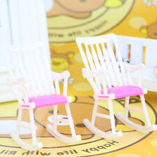 Doll house Toy Living Room for Barbie New Furniture Rocking Chair Accessories