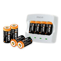8X Hixon 3.7V 16340 Battery CR123A Rechargeable Arlo Reolink batteries & Charger