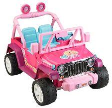 Ride On Vehicle Barbie Jeep Kids Car 12-Volt Battery Toddler Toy Wrangler Pink