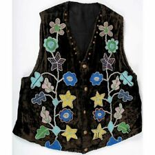 1890s Native American Plains Cree Indian Bead Decorated Man' 00001C37 S Vest / Beaded Vest