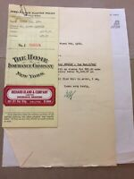 1940 Jewelry-Fur Floater Policy, Insurance Co. Vintage Paper Ephemera E73
