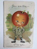 Vintage Raphael Tuck Postcard Signed E Curtis Applehead Man Anthropomorphic 1907