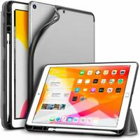 "ESR Rebound Pencil TPU Trifold Case For iPad 7th Gen 10.2"" 2019 Silver Grey"