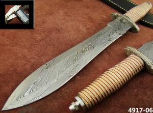 ALISTAR SUPERB HANDMADE DAMASCUS STEEL KNIFE DOUBLE EDGE HUNTING DAGGER 4917-6