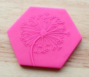 Dandelion Cookie Debosser, Fondant Cookie Embosser, Floral Cookie Stamp - 03