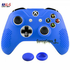 Game Soft Silicone Sleeve Skin Cover Thumb Grip for XBOX ONE S X Controller Blue