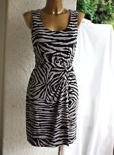 032bb70e3acd64 Comma Sommer Etui-Kleid wickel-optik 34 36 ? wie neu zebra schwarz weiß