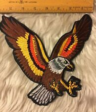 """Flying Eagle Embroidered 7 Color Jacket Patch Large 8""""x 8"""" Nos Sew On Type"""