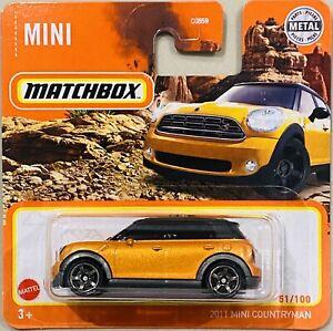 Matchbox 2011 Mini Countryman orange