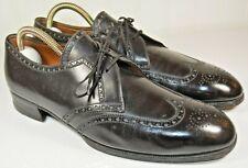 John Lobb Black Wingtip Dress Shoes Made in France Estimated Size US 9 Narrow