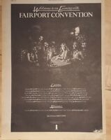 Fairport convention tour  1975 press advert Full page 28x 39 cm poster
