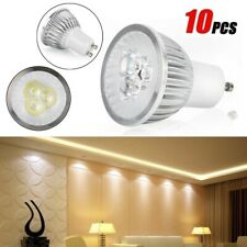 PureWhite Rechangable GU10 LED Downlight Bulb Globe Lamp 9W Spotlight(10PCS/set)