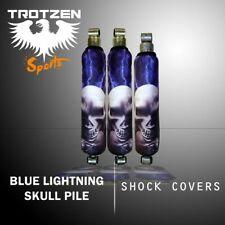 Yamaha raptor 660 Blue Lightning Skull Pile Shock Cover #mgh3444sc3444