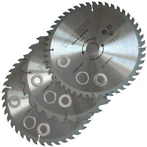 Circular Saw Blades. Three 235mm TCT Saw Disc Blades 24, 40, 48 teeth 30mm Bore