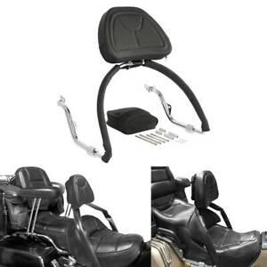 Black Sissy Bar Backrest Set For Honda Goldwing GL1800 GL 1800 2001-2016 14 15