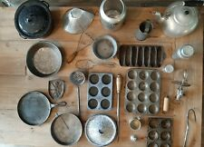 Vintage Kitchen Items, Lot of 25, Aluminum, Cast Iron, Wear-Ever, Wagner