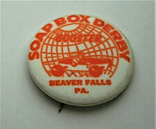 1950s Soap Box Derby Booster Beaver Falls Pa. Pin Button NOS NEW Racer