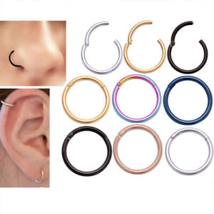 1pc 6/8/10/12m Nose Ring Stainless Steel Earring Body Pircing Jewelry Women Men