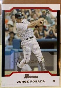 2004 Bowman Uncirculated Silver #32 Jorge Posada /245 Yankees RARE NICE!