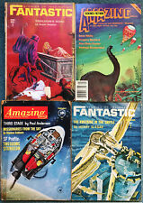 Four Classic Science Fiction Magazines, Amazing and Fantastic, 1962 to 1983.