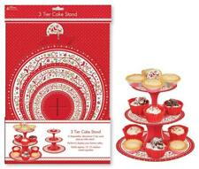 Christmas Xmas Festive Cake Cupcake Muffin Stand 3 Tier Holder Table Display