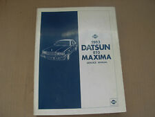 1983 Datsun Nissan Maxima Shop Service Manual , 810 Series