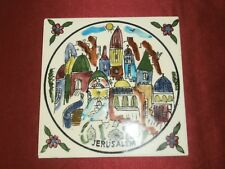 6x6 Marazzi Ceramiche Made in Italy Hand Painted Jerusalem Tile Trivet - Israel