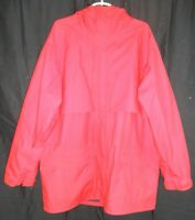 Eddie Bauer Red Gore Tex Hooded Back-Vent Rain Coat Shell Men's XL
