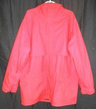 Eddie Bauer Red Gore Tex Hooded Back Vent Rain Coat Shell Men's XL