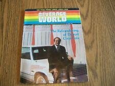 RARE BEVERAGE WORLD MAGAZINE OCT 1981 COCA COLA PEPSI ADVERTISEMENTS