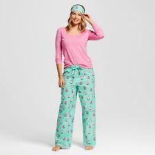 Woman's Nite Nite Munki Munki Penguins Pajama Set Pink/Mint Size XL (NWOT)