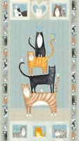 You Had me at Meow~Panel 24'' x 44'' Cotton Fabric by Northcott