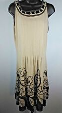 NWT $35 Stephanie Rogers Women's Brown Floral Print Sleeveless Dress Size Large