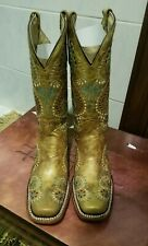 NIB Womens Circle G Embroidered Leather Boots Size 7.5