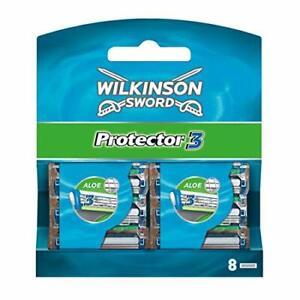 Wilkinson Sword Protector 3 Men's Razor Blade Refills x 8 | Fast Free Delivery