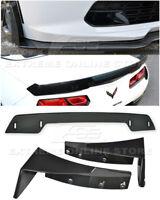For 14-19 Corvette C7 Z06 Stage 3 Side Splitter Winglets & SM Wickerbill Spoiler