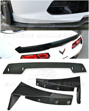 For 14-19 Corvette C7 Z06 Stage 3 Side Splitter Winglets & SM Wickerbill Spoiler