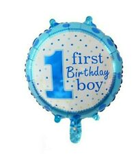 Party : First Birthday Baby Boy 18 inches Foil Balloon Party Decor Set 6 pcs