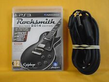 ps3 ROCKSMITH 2014 Editon Game + REAL TONE CABLE PAL UK REGION FREE