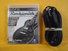 ps3 ROCKSMITH 2014 Editon Game + REAL TONE CABLE PAL UK REGION FREE