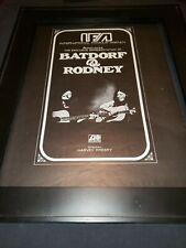 Batdorf & Rodney Rare Original Atlantic Records Promo Poster Ad Framed!