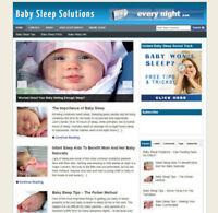BABY SLEEP TIPS WEBSITE UK AFFILIATE - FREE HOSTING & DOMAIN